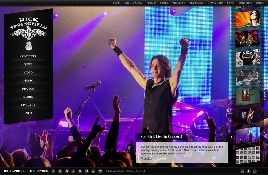 Rick Springfield Official Web