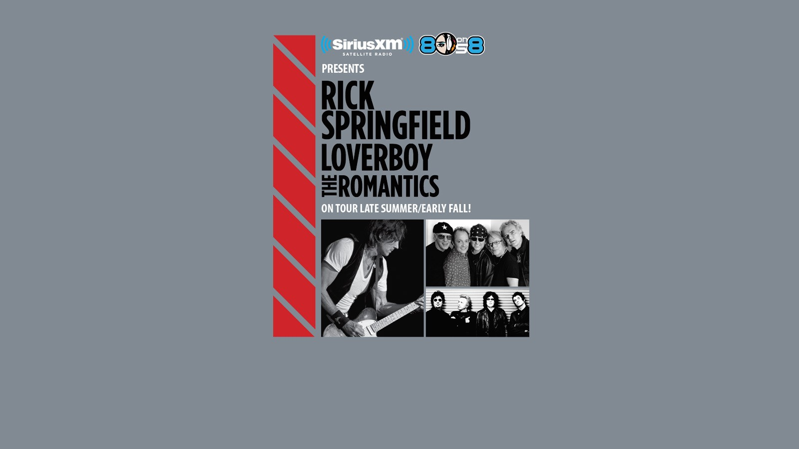 Rick Springfield, Loverboy and The Romantics Tour